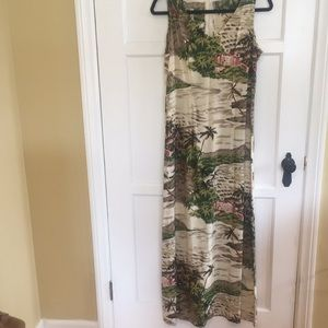 Tori Richards Vintage Hawaiian Print Maxi Size M